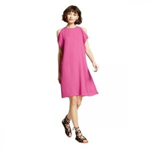 NWT Mossimo Cold Shoulder Shift Dress Small Pink